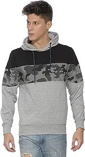 Alan Jones Clothing Men's Cotton Printed Hooded Sweatshirt