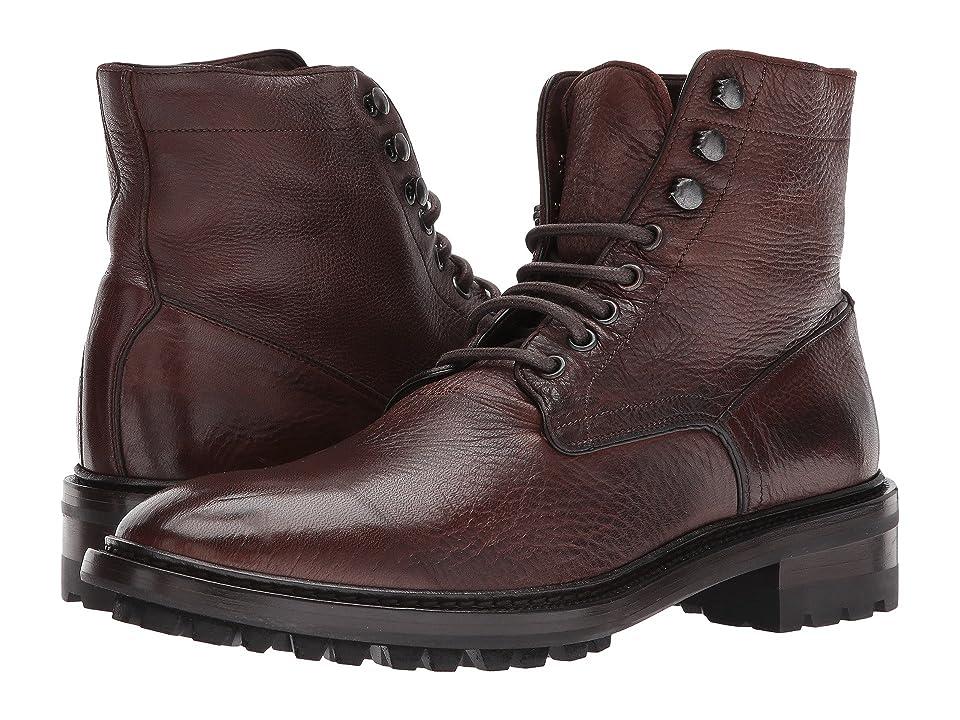 Frye Greyson Lace-Up (Cognac Deer Skin Leather) Men