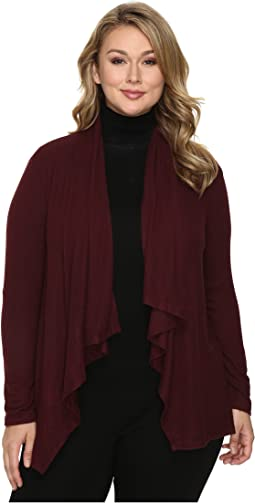 B Collection by Bobeau - Plus Size Amie Waterfall Cardigan