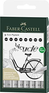 Faber-Castell Ecco Pigment Finepen, Black 8 Pack, (54-166008)