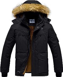 Heihuohua Men's Mountain Waterproof Ski Jacket Winter Snow Coat with Fur Hood