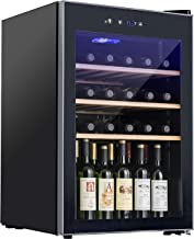 KUPPET Compressor 36 Bottle Wine Cooler, Counter Top Wine Cellar/Chiller, Wine Refrigerator Single Zone with Touch Control, Quiet Operation Fridge (Wooden shelf)