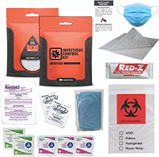 Go2Kits Infectious Control Kit with Infection Isolation Tools with PPE and Proper Disposal Pack (1 Pack)