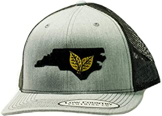 Low Country Clothing Company Official North Carolina Tobacco Leaf Adjustable Hat - Embroidered on Richardson 112 Trucker Hat