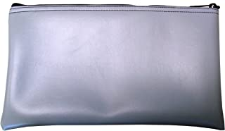 Cardinal Bag Supplies Vinyl Zipper Bags Leatherette 11 x 6 inches Small Compact Gray 1 Zippered Pouch CW