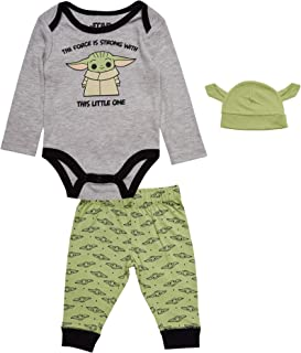 Star Wars Baby Yoda Onesie Bodysuit with Pants and...