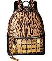 MCM - Stark Brass Plate Leopard Backpack Medium