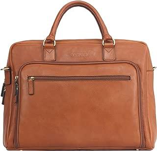 Banuce Vintage Full Grain Italian Leather Briefcase for Men Women Business Attache Case 14