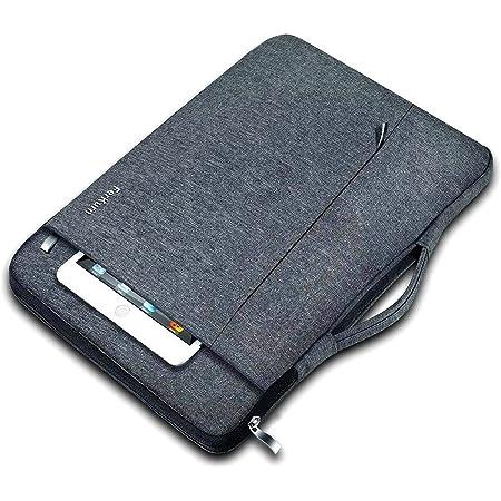 Ferkurn パソコン ケース11 11.6 12インチPCスリーブケース 衝撃吸収パソコンカバーケース 撥水性スリーブバッグ 手提げカバンパソコンケース 持ち歩き 通勤ラップトップ ビジネスMacBook Air 11.6/Surface pro/iPad/XPS 13/Chromebook 3100/Lenovo/Acer/ASUS/Dell 保護用インナーケース (グレー)