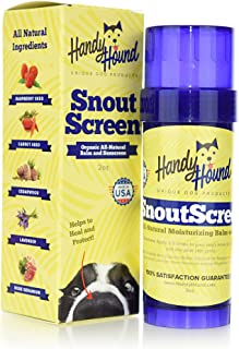 Handy Hound SnoutScreen | Nose Balm | Moisturizing All Natural Balm and Sunscreen Heals Dry, Chapped, Cracked, and Crusty ...