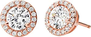 Orecchini a bottone Michael Kors da donna in argento 925 12 zirconi One Size Rosé 32010070