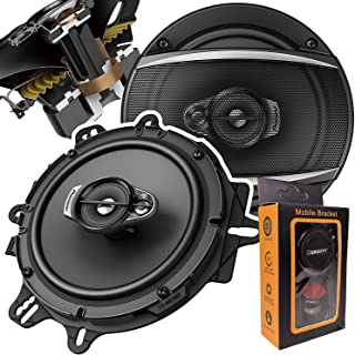 """Pair of Pioneer 6-1/2"""" 6.5"""" 3-Way Coaxial Car Audio Speakers   TS-A1670F (2 Speakers) + Free Gravity Mobile Bracket Holder photo"""