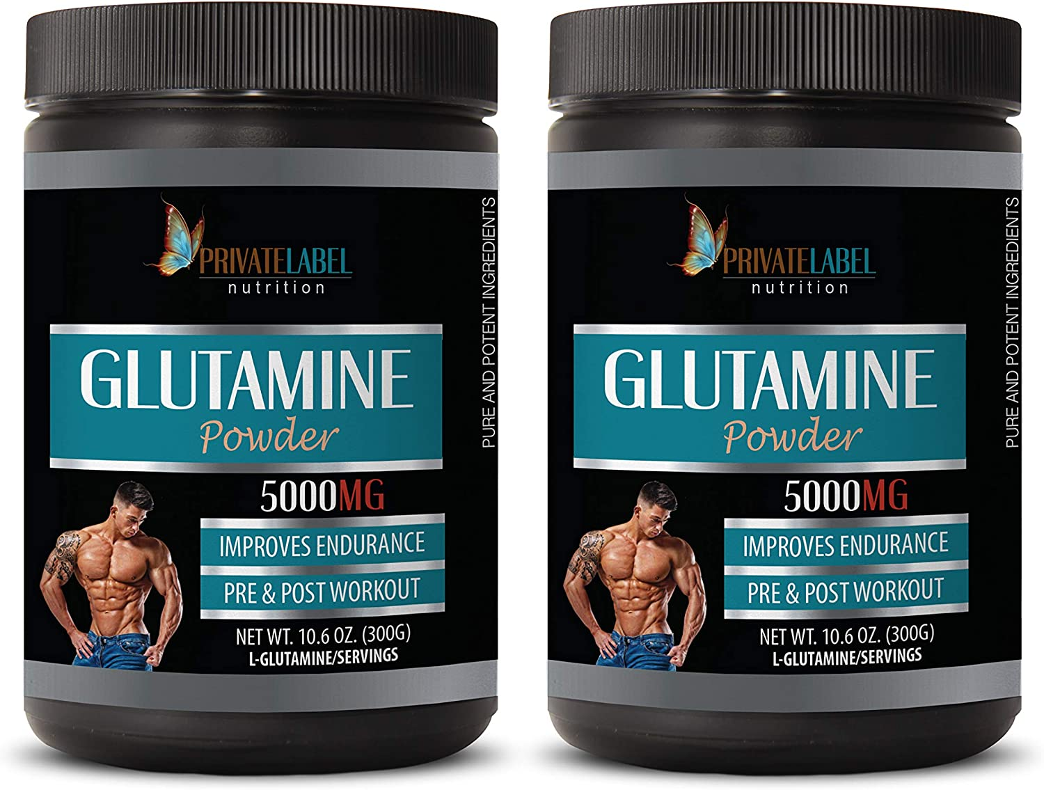 Post Workout Natural - GLUTAMINE 5000MG Improves Powder Max 60% excellence OFF Endura