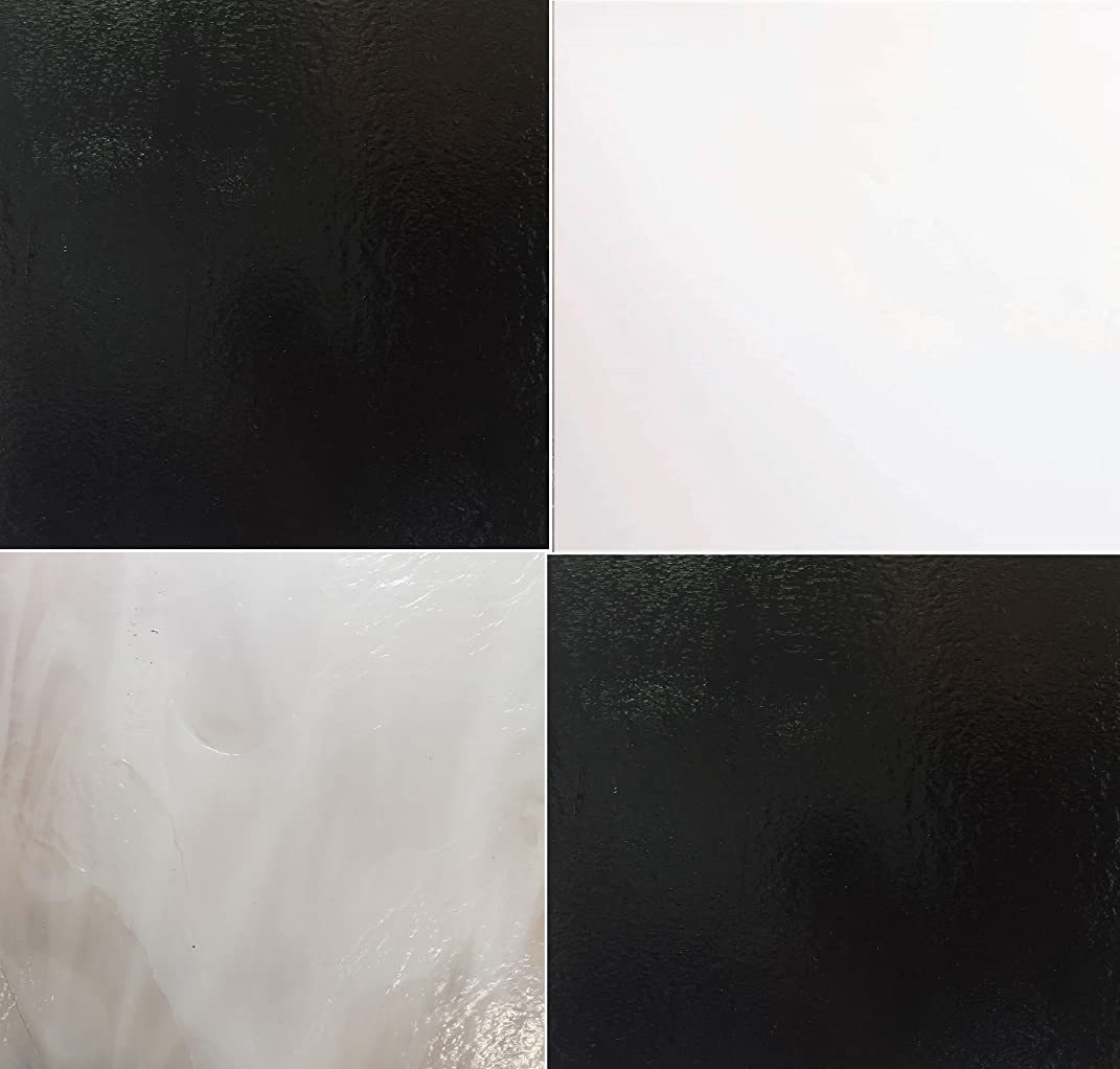 Stained Glass Sheet Pack - Black and White 4 Sheets
