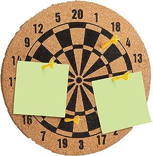 Cork Dartboard Memo Bulletin Board - Wall Mount Size 5.9