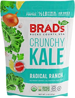 Brad's Plant Based Organic Crunchy Kale, Radical Ranch, 12 Count