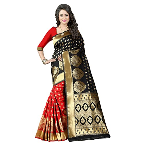 64910d3ee49d11 Red and Black Sarees: Buy Red and Black Sarees Online at Best Prices ...