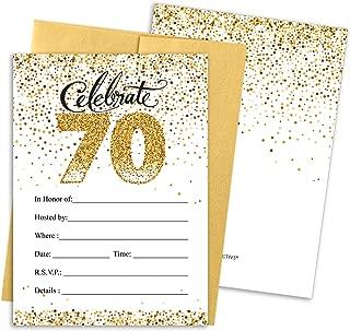 Best cheap 70th birthday invitations Reviews