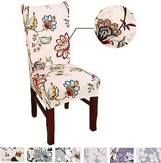 Argstar 2pcs Chair Covers for Dining Room Spendex Slipcovers Spring Flower Design