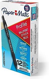 کاغذ Ball Mate Ballpoint، Profile Retractable Pen، Medium Point (1.0 mm)، Black، 12 Count