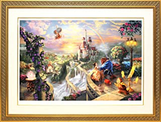 Disney ディズニー/トーマス・キンケード「美女と野獣/フォーリン・ラブ」ジークレ (ゴールド) [並行輸入品]