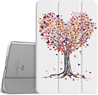 """MoKo Case Fit iPad Mini 4 - Slim Lightweight Smart-Shell Stand Cover with Translucent Frosted Back Protector Fit iPad Mini 4 7.9"""" 2015 Release Tablet, Love Tree (with Auto Wake/Sleep)"""
