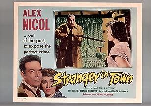 MOVIE POSTER: STRANGER IN TOWN-LOBBY CARD-FN/NM-ALEX NICOL-ANNE PAIGE-CRIME-DRAMA-1957 VF/NM