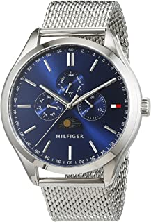 Tommy Hilfiger Olive Men's Blue Dial Stainless Steel Band Watch - 1791302