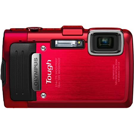 Olympus Stylus TG-830 iHS Digital Camera with 5x Optical Zoom and 3-Inch LCD (Red) (Old Model)