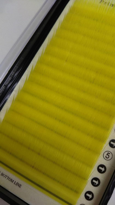 取り替える分析する一般的にノーブランド品 まつ毛エクステ ミンク/イエロー(Nカール)0.20mm × 12mm