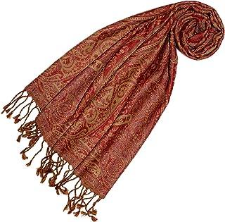 4f385a8c92 Lorenzo Cana Echarpe de 100% laine pour la femme – foulard paisley fleuri -  35