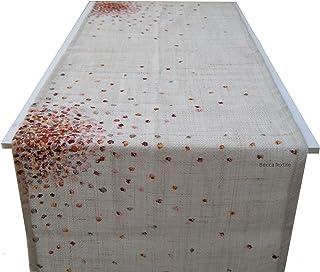 Camino de mesa de tejido natural, yute cáñamo, manteles de diseño de BeccaTextile.