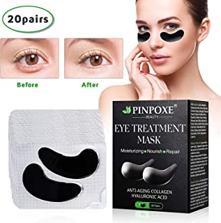 Under Eye Pads, Collagen Eye Mask, Eye Treatment Mask, Puffy Eyes, Eye Patches, Natural Eye Patches With Anti-aging and Wrinkle Care Properties/Help Reduce Dark Circles and Puffiness (20 Pairs)