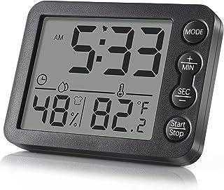 Termómetro Higrómetro Digital, Termómetro De Humedad Digital De Alta Precisión Con Imán, Estación Meteorológica Interior y...