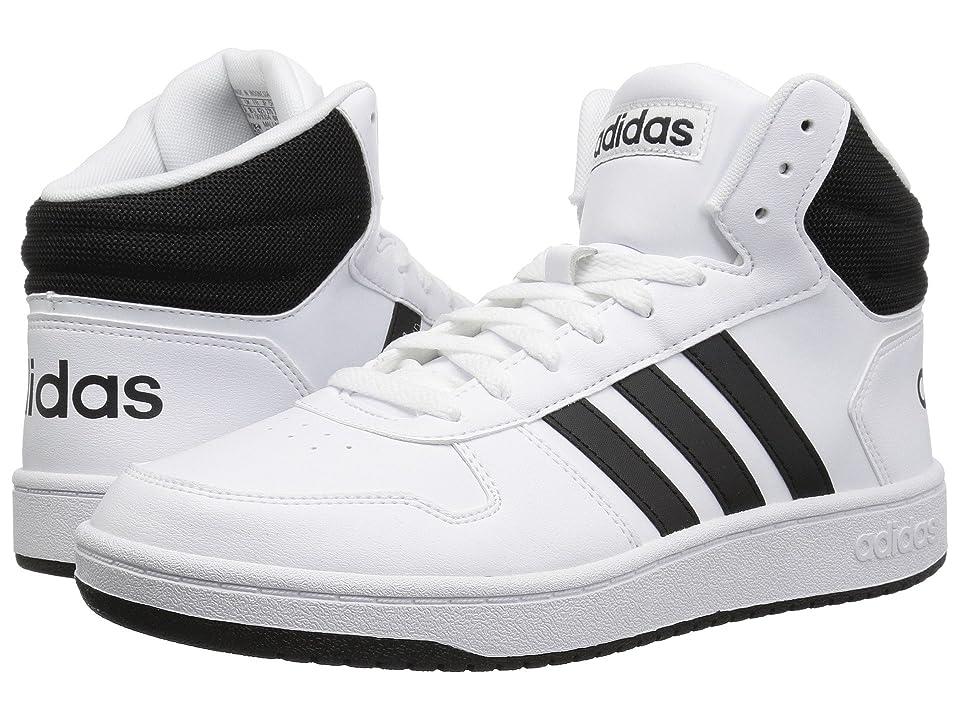 adidas Hoops 2.0 Mid (White/Black/Black) Men