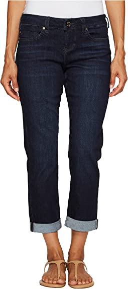Liverpool Petite Peyton Slim Boyfriend in Vintage Super Dark Comfort Stretch Denim