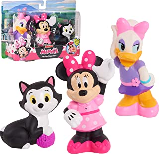 Disney Junior Minnie Mouse 3-Pack Bath Toys, Figures Include Minnie Mouse, Daisy Duck, and Figaro, Amazon Exclusive