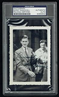 Roddy McDowall signed autograph 3x4.5 Vintage 1940's Snapshot Photo PSA Slabbed