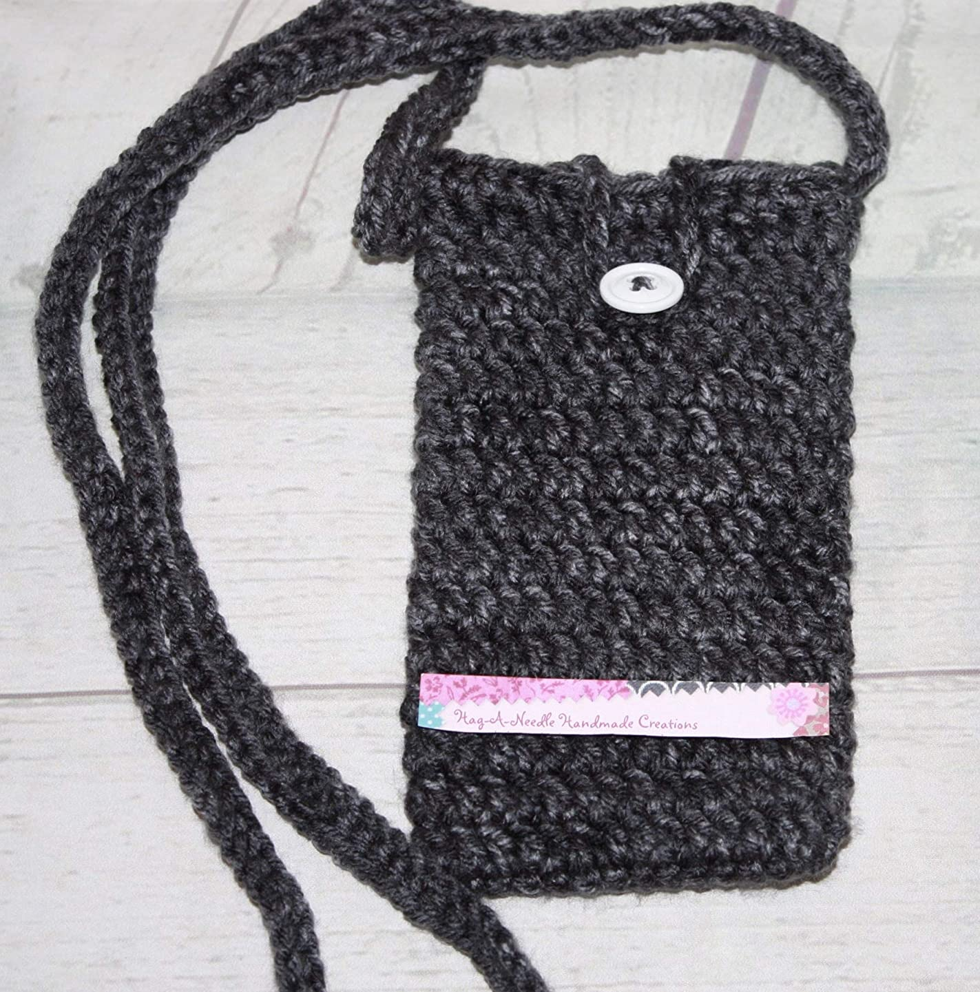 Cross Body Small Purse, Cell Phone Holder Gray