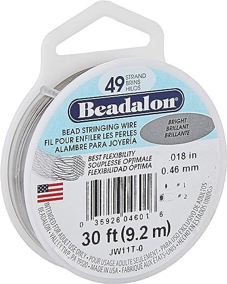.013, .015, .018,.021, .024 Bronze Beadalon 49 Strand Stainless Steel Flex Wire Gemstone Stringing Wire Bronze Bead Stringing Wire