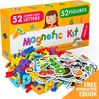 X-bet MAGNET Foam Magnets and Magnetic Letters for Toddlers and Kids - ABC Alphabet Magnets for Refrigerator and Dry Erase Board - Baby Magnets for Fridge and Whiteboard - Ideal