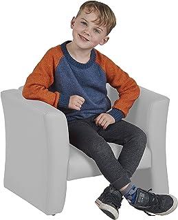 Home Decor Orange Daycare Homeschool Classroom Furniture ECR4Kids SoftZone Gum Drop Upholstered Sofa for Kids