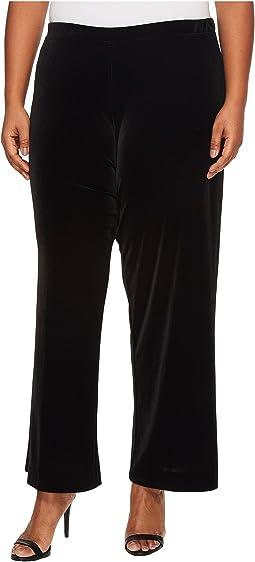 Karen Kane Plus - Plus Size Wide Leg Velvet Pants