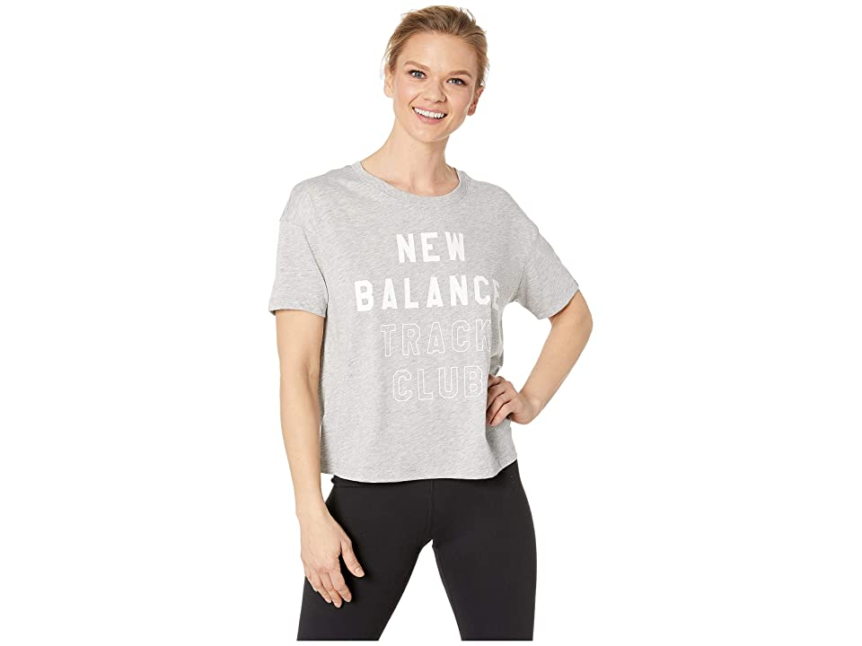 New Balance Essentials Tech Tee (Athletic Grey) Women