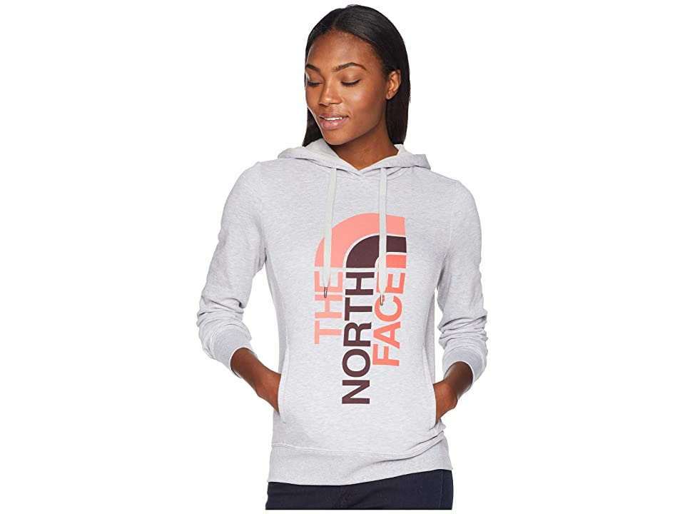 The North Face Trivert Pullover Hoodie (TNF Light Grey Heather/Fig Multi) Women