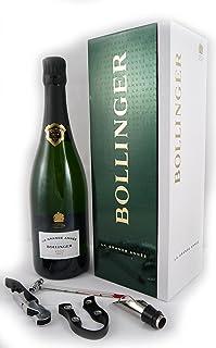 Bollinger Grand Annee Vintage Champagne 2005 in einer Geschenkbox. Da zu vier Wein Zubehör, Korkenzieher, Giesser, Kapselabschneider,Weinthermometer, 1 x 750ml