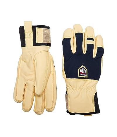 Hestra Sarek Ecocuir Five Finger (Navy) Ski Gloves