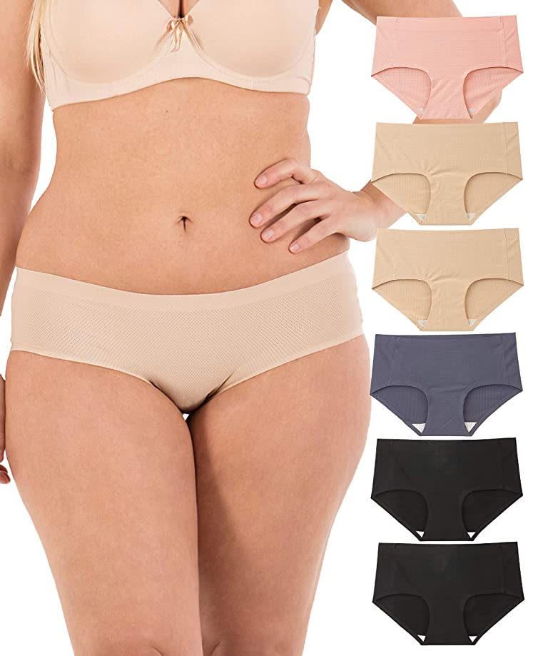Underwear Women - Seamless No-Show Womens Underwear Small to Plus Size 6 Panties
