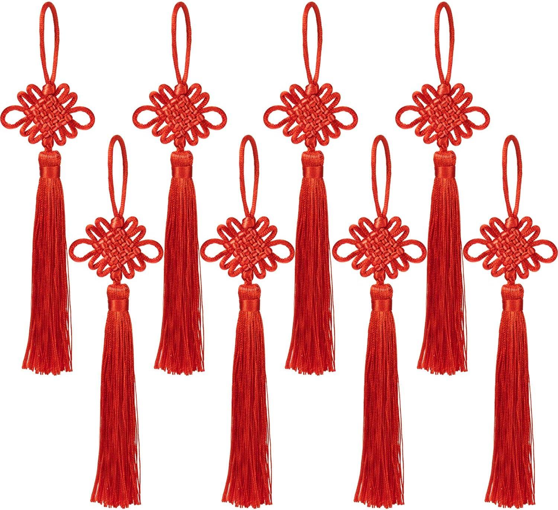 Over item handling CHENGU 20 Pack Chinese Knot The Satin Handma Credence Silk Tassel Fortune