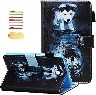 UUcovers حافظة لجهاز Samsung Galaxy Tab A 7.0 بوصة 2016 Tablet (SM-T280/ T285) مع حامل أقلام رصاص وجيوب جلدية قابلة للطي و...